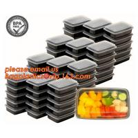 Food grade plastic disposable plastic take away bento box with 4 compartment,Containers Plastic Leakproof Food Container Manufactures