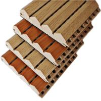 China Auditorium Sound Absorption Material Wooden Grooved Acoustic Panels on sale