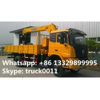 dongfeng 4*4 all wheels drive off road 6.3tons telescopic boom mounted on truck for sale, HOT SALE! truck with crane Manufactures