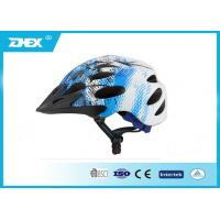 China Custom Size Blue White downhill bike helmets , cool bicycle helmets for men on sale