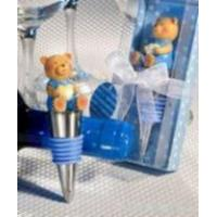 Baby Blue Teddy Bear Design Wine Bottle Stoppers Manufactures