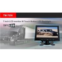 China 7 inch car LCD monitor with touch button LED backlight 12-24V input TM-7056 on sale