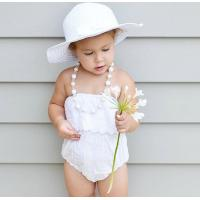 Quality Angou baby girls cute rompers INS lace pretty jumpsuits infant toddler girls rompers BABY for sale