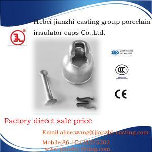 W-clip type cast iron cap for ceramic/porcelain insulator fitting Manufactures