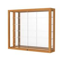 Simple Retail Wall Display Shelves Solid Wooden Wall Display Cases Heirloom Series Manufactures