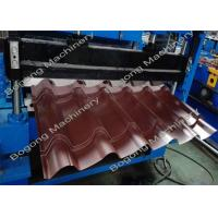 China Industrial Metal Glazed Tile Roll Forming Machine 2 - 4m / Min Forming Speed on sale