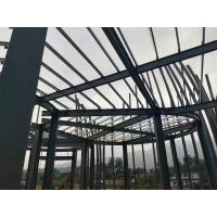 China Q235 Light Paint Garage Steel Frame / Metal Building Frame With 50 Years Long Life on sale