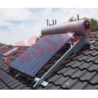 Integrated Pressurized Rooftop Solar Water Heater Silver Steel Outer Tank Manufactures