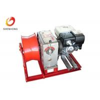 Gasoline Engine Gas Powered Winch , Take Up Machine Cable Pulling Winch Manufactures