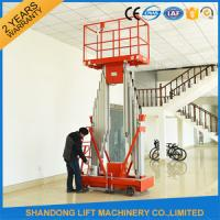 High Strength Aluminum Alloy Mobile Lifting Table , Electric Hydraulic Motorcycle Lift Table  Manufactures