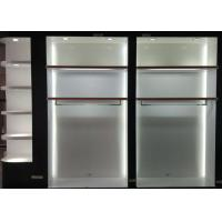 Matte White Wooden Retail Clothing Fixtures Apparel Store Shelves With LED Lights Manufactures