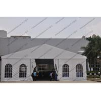 White Color Aluminum Big Builders Warehouse Tents With Soft PVC Fabric Windows Manufactures
