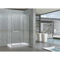 Customized Rectangle Sliding Shower Doors 8 / 10 MM Clear / Printed Glass SGCC Certification Manufactures