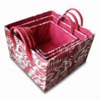 Paper Woven Storage Box with Fashion Design Printing, OEM Orders are Available Manufactures