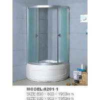 Simple Shower Cubicle (Frosted Glass, Standing Base, T-Shap Door Knob) 8201-1 Manufactures