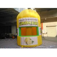 Yellow Oxford Inflatable Lemonade Booth PLT-063 3 M Dia / 4 M Height Manufactures