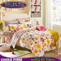 China Cartoon Flower Pigment Printed Twin Full Queen King Cotton Bed Sheets on sale