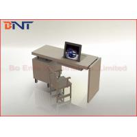 Video Conference Table LCD Monitor Lift With 19 Inch Flip Up Monitor Manufactures