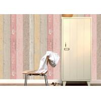 Colorful Wood Foam Waterproof PVC Vinyl Wallpaper Vertical Stripe Wallpaper Manufactures