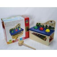 Educational Preschool Multifunction Knock Piano Units Wooden Toys with A Small Mallet Manufactures