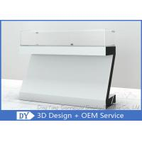 Quality White Coating MDF Jewelry Showcase Display with Wooden + Glass + Lights + for sale