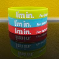 Ecofriendly Health I am In Sports Silicone Bracelets , DIY Custom Silicone Wristbands Manufactures