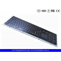 IP65 Black Industrial Metal Kiosk Keyboard With Touchpad And Function Keys Manufactures