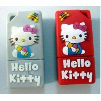 Rubber Material Hello Kitty Cartoon USB Flash Disk (J-046) Manufactures