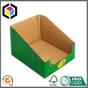 Color Printing Corrugated Cardboard Display Box for Book; Bottom Locking Display Manufactures