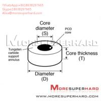 China Tungsten Carbide Supported Diamond Die Blanks used to wire drawing  Alisa@moresuperhard.com on sale
