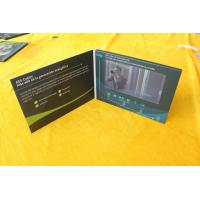 China Paper card type custom printing  LCD screen video brochure 7inch magnet switch control video book on sale
