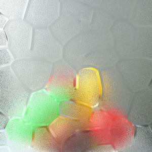 China Bathroom 18mm Anti UV Polycarbonate Embossed Sheet on sale