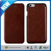 Vintage Wallet Flip Cell Phone Leather Cases With Credit Card Slots For Iphone 6 Manufactures