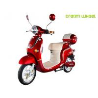 48V 500W Electric Pedal Scooter , Electric Moped Scooter For Women Manufactures