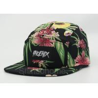 Fashion Woman / Lady Printed Baseball Caps Cotton Colorful  22 - 23.6 Inch Manufactures