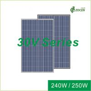 White PET Silicone Sealant Polycrystalline Solar Module  240W 245W 250W Manufactures