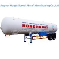 Hongto Brand High Quality 52CBM capacity Aluminum alloy LPG LNG Fuel storage oil tank semi trailer for sale Manufactures