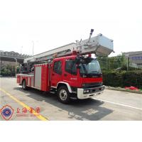 Four Door Structure Fire Engine Ladder Truck ISUZU Chassis With 200L Fuel Tank Manufactures