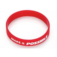 Quality Sports Silicone Wrist Band Emboss Printed Custom Silicone Rubber Wristbands for sale
