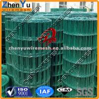 vinyl coated welded wire fence(Green,white,brown etc) Manufactures