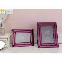 Mirror Glass Wall Art Picture Frame / Horizontal 5x7 Picture Frames For Hotel Manufactures