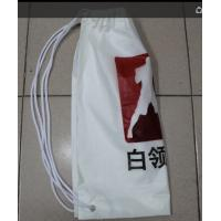 White Double Plastic Drawstring Backpack For Riding , Playing , Swimming Manufactures