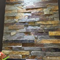 Natural Stone Rust Slate Mini Panel For Wall Cladding High Temperature Resistance Manufactures