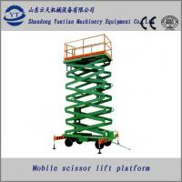 China Stainless Steel four wheels mobile scissor lift table on sale