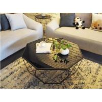 North European creative small livingroom Iron frame with tempering transparent glass top morden style coffee table BS101 Manufactures