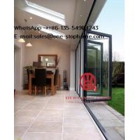 China Aluminium Heavy Folding Door Sound-Proof for Villa House Hotel Building Project on sale