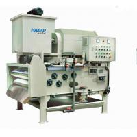 Quality Belt Type Filter Press with Semi-Centrifuge Rotary Drum Thickener and Compact Structure (HTA) for sale
