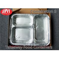 3 Compartments Aluminium Foil Takeaway Food Containers Foods Packing Useage Manufactures