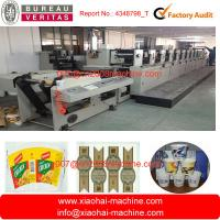 825MM Web Width Paper Bag Flexo Printing Machine With Gear Box Driving Manufactures