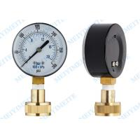 63mm Water test  pressure gauge fluid with swivel brass hose connection Manufactures